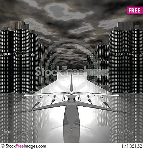 Free Airliner With A Clouds Stock Photography - 14135152
