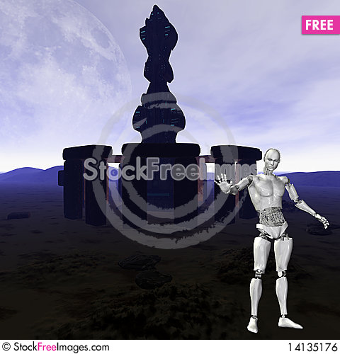 Free Android, Cybernetic Intelligence Royalty Free Stock Image - 14135176