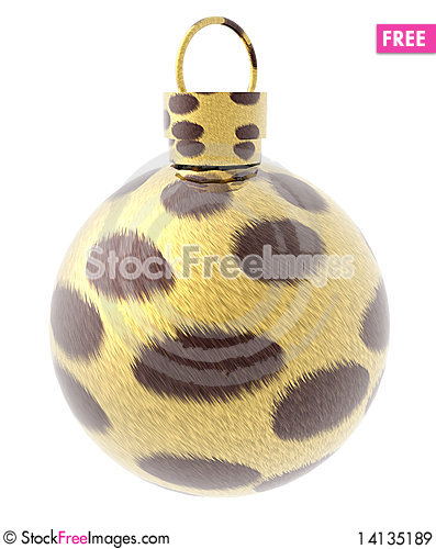 Free Xmas Ball With Animal Fur Texture Royalty Free Stock Images - 14135189