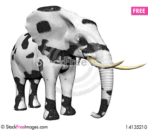 Free Elephant In Big Cat Fur Stock Photo - 14135210