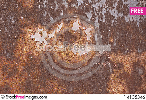 Free Rusted Metal Surface Royalty Free Stock Image - 14135346