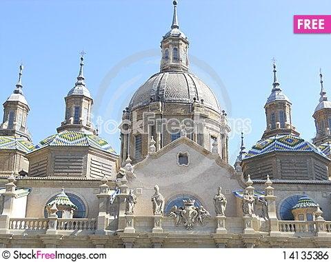 Free Church Of Pilar - Zaragoza Royalty Free Stock Image - 14135386