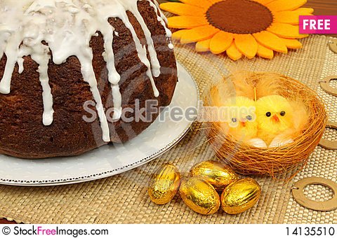 Free Easter Table Stock Photo - 14135510