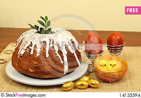 Free Polish Easter Cake Stock Images - 14135594