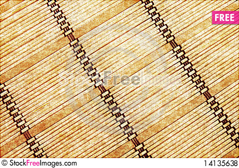 Free Background In The Form Of A Straw Mat Royalty Free Stock Photos - 14135638