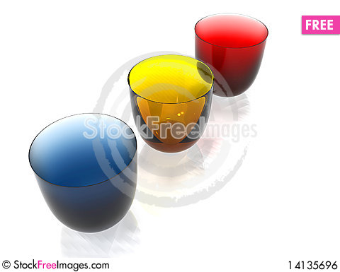 Free Colored Glasses Royalty Free Stock Image - 14135696