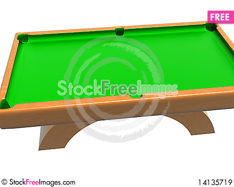 Free Billiard Table Royalty Free Stock Images - 14135719