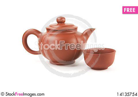 Free Chinese Teapot And Cup Stock Images - 14135754