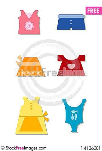 Free A Girl S Summer Wardrobe Stock Image - 14136381