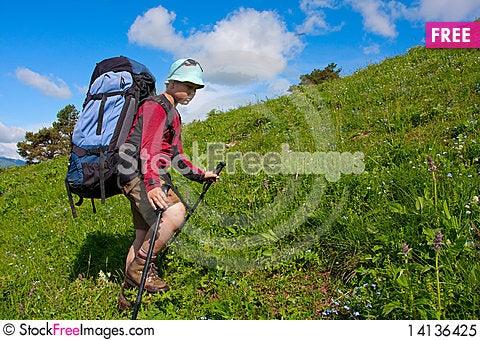 Free Hiker Royalty Free Stock Photo - 14136425