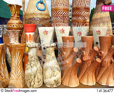 Free Indian Pottery Royalty Free Stock Photography - 14136477