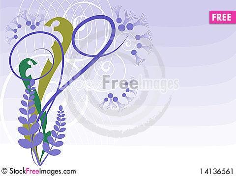 Free Monogram Purple Stock Image - 14136561