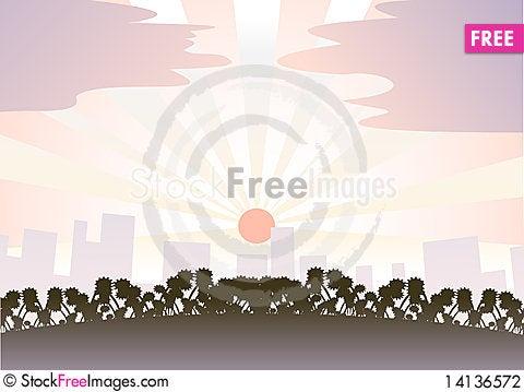 Free Evening City Stock Photography - 14136572