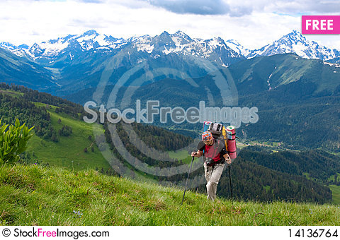 Free Hiker Stock Images - 14136764