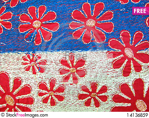 Free Embroidery Fabric Royalty Free Stock Images - 14136859