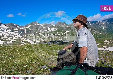 Free Hiker Royalty Free Stock Photo - 14136975