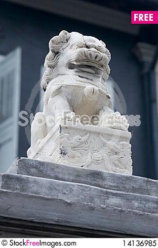 Free Stone Lion Royalty Free Stock Photo - 14136985