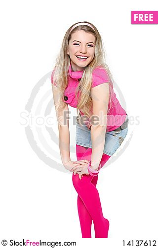 Free Young Happy Girl Stock Photography - 14137612