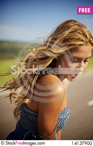 Free Blond Woman On Summer Day Stock Photo - 14137900