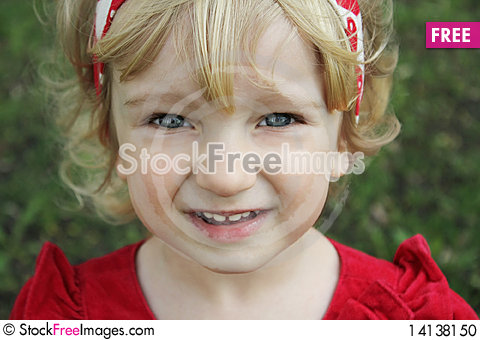 Free Portrait Of A Little Blue-eyed Girl Stock Photo - 14138150