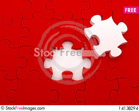 Free Puzzle Over White Background Stock Images - 14138294