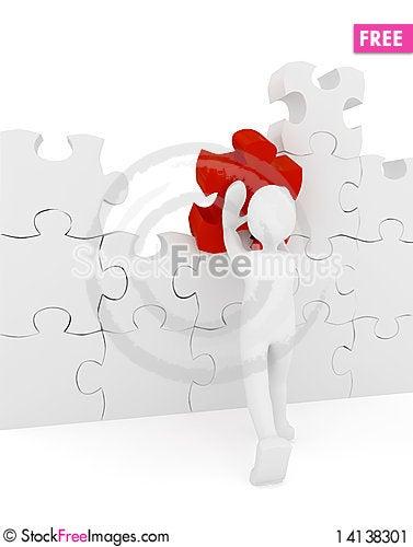 Free Puzzle Over White Background Stock Image - 14138301