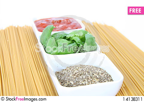 Free Ingredients For Spaghetti Bolognese Or Napoli Stock Image - 14138311