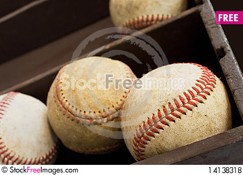 Free Old Baseballs Royalty Free Stock Photos - 14138318