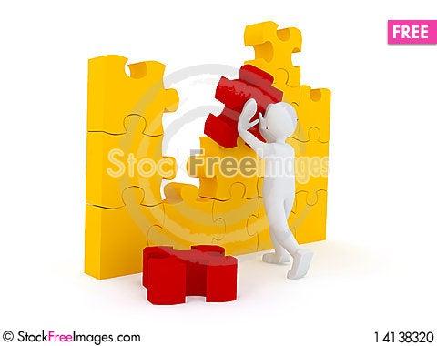 Free Puzzle Over White Background Stock Photo - 14138320