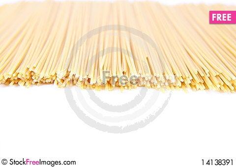Free Raw Spaghetti Stock Image - 14138391