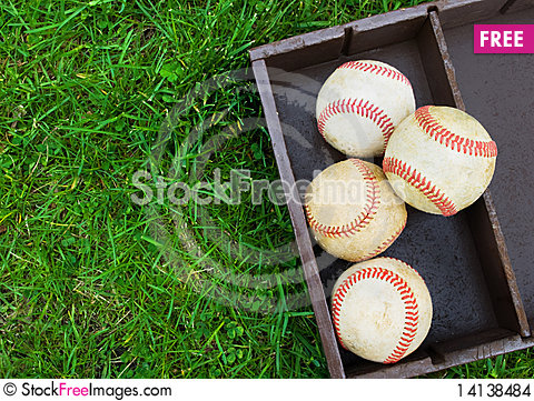 Free Baseballs In A Box Stock Images - 14138484