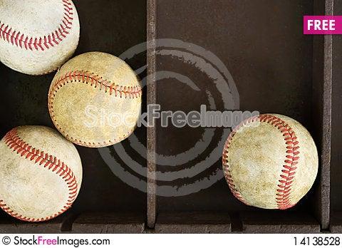 Free Baseballs In Box Royalty Free Stock Photos - 14138528