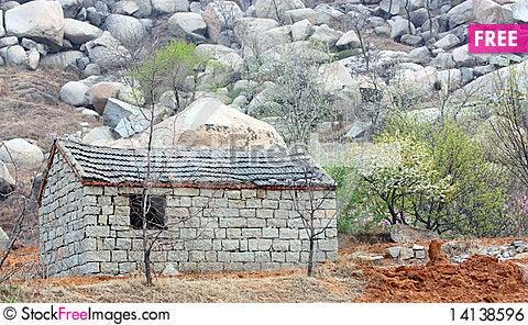 Free Stone House Royalty Free Stock Image - 14138596