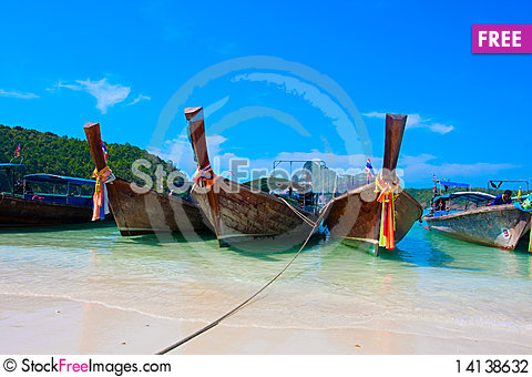 Free Boat In The Bay Stock Photography - 14138632