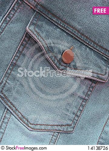 Free Closeup Of Gray Denim Jeans Pocket Royalty Free Stock Image - 14138726