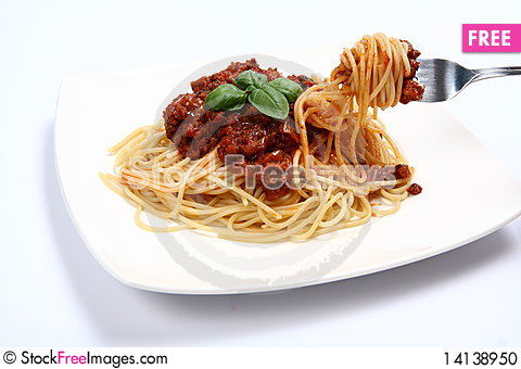 Free Spaghetti Bolognese Stock Photo - 14138950