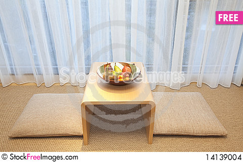 Free Cushion And Tea Table Stock Images - 14139004