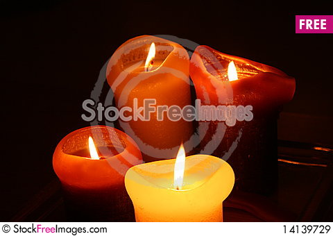 Free Candles In The Dark Royalty Free Stock Images - 14139729