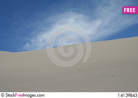 Free Sand Dune With Cloud Stock Photos - 14139843