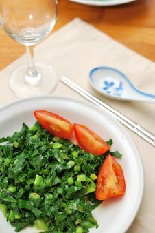 Chinese Style Vegetables And Tomatoes Royalty Free Stock Image