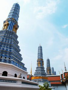 Free Blue Pagoda At The Grand Palace, Bangkok Thailand Royalty Free Stock Photo - 14130255