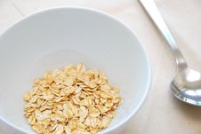 Small Serving Of Healthy Oatmeal Stock Photo