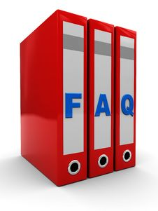 Faq Folders Royalty Free Stock Images