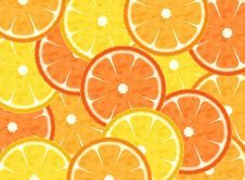 Free Slice Citrus Fruits Background Royalty Free Stock Photography - 14130987