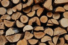 Free Pile Of Wood Stock Image - 14131231