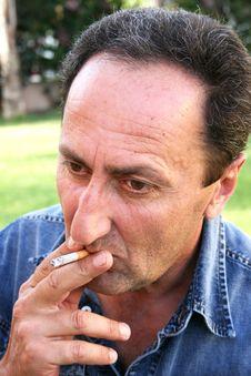 Free Smoking Man Stock Image - 14131331