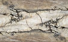 Free Cracked Wood Background Royalty Free Stock Photography - 14131457