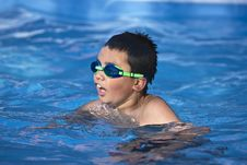 Free Young Boy Swimming Royalty Free Stock Photography - 14131977