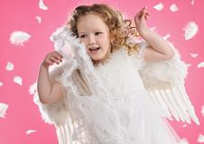 Free Beautiful Little Angel Girl Stock Photo - 14132460