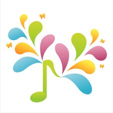 Free Colorful Musical Note Background Royalty Free Stock Photography - 14132677